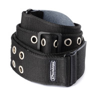 Dunlop Guitar/Bass Strap Black with Grommets