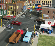 Walthers Cornerstone HO Scale Building/Structure Kit Asphalt Street System