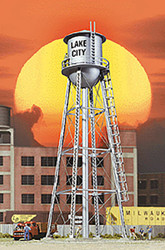 Walthers Cornerstone HO Scale Building/Structure City Water Tower Built - Silver