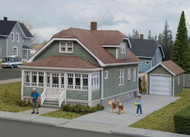 Walthers Cornerstone HO Scale Building Kit Updated American Bungalow House