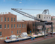Walthers Cornerstone HO Scale Building Kit Traveling Crane/Brick Street