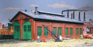 Walthers Cornerstone HO Scale Building/Structure Kit 2-Stall Enginehouse