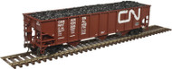 Atlas HO Scale AAR 3-Bay Open Hopper/Load Canadian National/CN/Noodle #326209