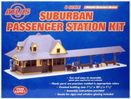 Atlas O Scale Model Railroad Train Building Kit Suburban Passenger Station