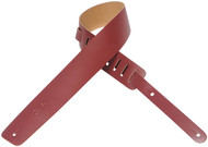 "Levy's M1-BRG 2.5"" Basic Leather Guitar/Bass Strap - Burgundy"
