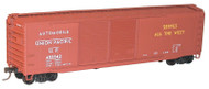Accurail HO Scale Kit AAR 50' Riveted Double-Door Box Car Union Pacific #455842