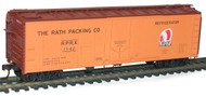 Accurail HO Scale Kit 40' Steel Reefer with Plug Doors Rath Packing #1542