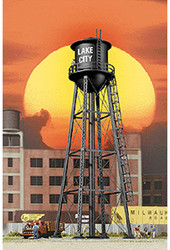 Walthers Cornerstone HO Scale Building/Structure City Water Tower Built - Black