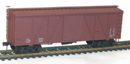 Accurail HO Scale Kit Fowler 36' Wood Box Car Data Only (Mineral Red)