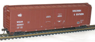 Accurail HO Scale Kit AAR 50' Double Plug-Door Box Car Wisconsin Southern 503021