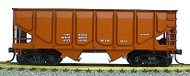 Accurail HO Scale Kit 55-Ton Panel Side Twin Hopper - Data Only (Oxide)
