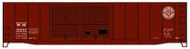 Accurail HO Scale Kit AAR 50' Riveted Double-Door Box Car Western Maryland 31047