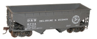Accurail HO Scale Kit 50-Ton Offset-Side 2-Bay Hopper Delaware Hudson/D&H #6734