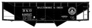 Accurail HO Scale Kit 50-Ton Offset-Side 2-Bay Hopper Baltimore Ohio/B&O #640537