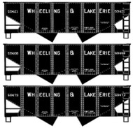 Accurail HO Scale Kit 2-Bay Hopper 3-Pack Wheeling & Lake Erie 59421/59468/59473