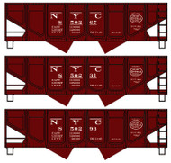 Accurail HO Scale Kit 55-Ton Hopper 3-Pk New York Central #850267/850231/850293