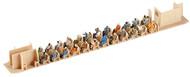 Preiser HO Scale Model Figure/People Set - Seated Passengers 36-Pack