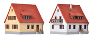 Kibri Z Scale Building/Structure Kit 1930s Settlement House/Home 2-Pack