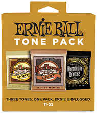 Ernie Ball 3314 Tone Pack Acoustic Guitar Strings Three Set Pack (11-52)