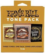 Ernie Ball 3314 Tone Pack Acoustic Guitar Strings Three Set Pack (11-52)