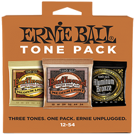 Ernie Ball 3313 Tone Pack Acoustic Guitar String Three Pack Set (12-54)