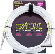 Ernie Ball 6047 Straight Ultraflex Sheilded Instrument Cable 20'