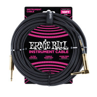 Ernie Ball P06081 10' Braided Straight/Angle Instrument Cable - Black w/Gold