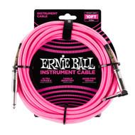 Ernie Ball P06078 10' Braided Straight/Angle Instrument Cable - Neon Pink