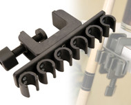 Joe Porper Portable 6 Cue Rack Pool/Billiards Stick Holder - Black