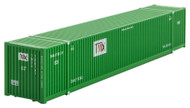 Micro-Trains MTL N-Scale 53ft Corrugated Shipping Container TMX (Green) #780731
