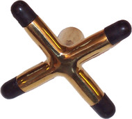 "Brass ""X"" Pool Billiard Cue Stick Bridge Head"