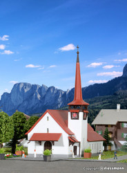 Kibri Z Scale Building/Structure Kit Kandersteg City Church/Chapel