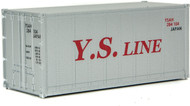Walthers HO Scale 20' Smooth-Side Container Y.S. Line (Gray/Red)