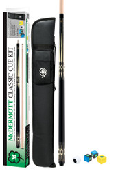 Mcdermott KIT4 Classic Grey Stain  Pool/Billiard Cue Kit Soft Case/Chalk & More