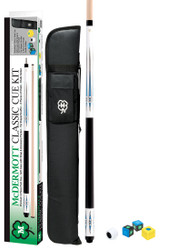 Mcdermott KIT5 Classic White Paint Pool/Billiard Cue Kit Soft Case/Chalk & More