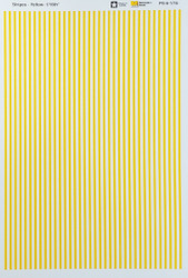 Microscale Model Railroad/Train Decal Set - 1/16 Inch Yellow Stripes/Lines