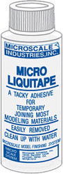 Microscale Model Railroad/Train Decal Micro Liquitape Temp. Adhesive 1oz. Bottle