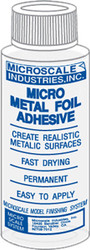 Microscale Model Railroad/Train Decal Micro Metal Foil Adhesive 1oz. Bottle