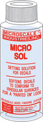 Microscale Model Railroad/Train Decal Micro Sol Setting Solution 1oz. Bottle