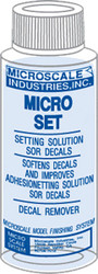 Microscale Model Railroad/Train Decal Micro Set Solution/Remover 1oz. Bottle