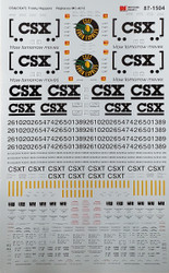 Microscale Model Railroad Decals HO Scale CSX (CSXT) Trinity Covered Hoppers