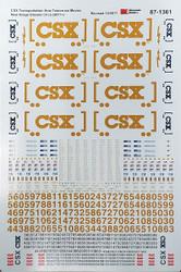Microscale Model Railroad Decals HO Scale CSX ES44AC/EMD Diesels Dulux Yellow