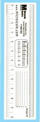 Microscale Model Railroad/Train Decal Measuring Clear HO Scale Ruler