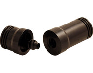 Pro Series JPA-10 Threaded Aluminum 3/8 x 10 Joint Protectors - Black
