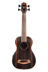 Kala UBASS-EBY-FS Acoustic-Electric Striped Ebony U•Bass Uke Ukulele