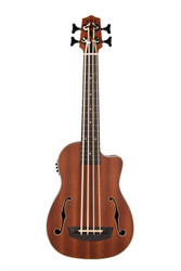 Kala UBASS-JYMN-FS Journeyman Mahogany Acoustic-Electric U•Bass Uke Ukulele w/Bag
