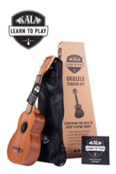Kala KALA-LTP-S Learn to Play Starter Kit Mahogany Soprano Uke Ukulele