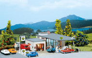 Faller N Scale Building/Structure Kit BP Petro/Gas Station Fuel Island/Store