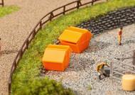Faller N Scale Scenery Accessory Kit Trash/Refuse Bins/Dumpsters 2-Pack