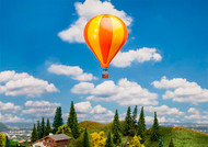 Faller N Scale Building/Structure Kit Hot-Air Balloon (Orange/Yellow Stripes)